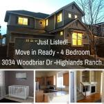 Just Listed – Highlands Ranch 4 Bedroom